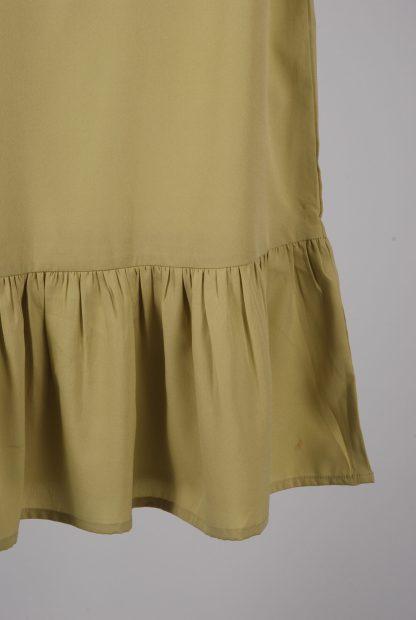 Boohoo Petite Green Frill Hem Dress - Size 8 - Back Hem