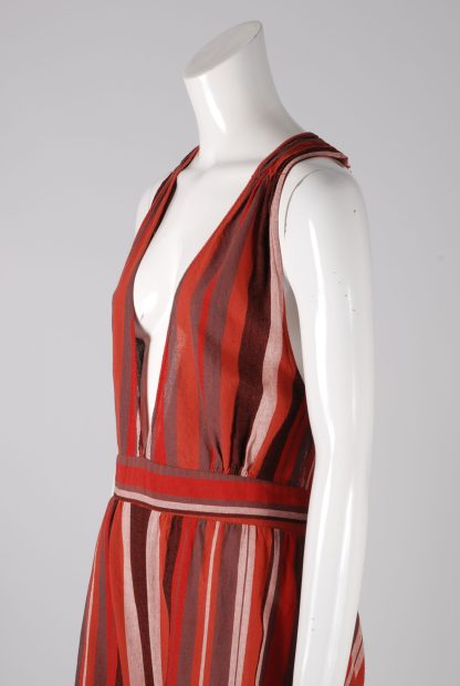 Unique Collections Red Striped Playsuit - Size 16 - Side Detail