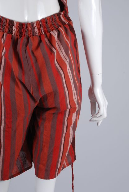 Unique Collections Red Striped Playsuit - Size 16 - Back Hem