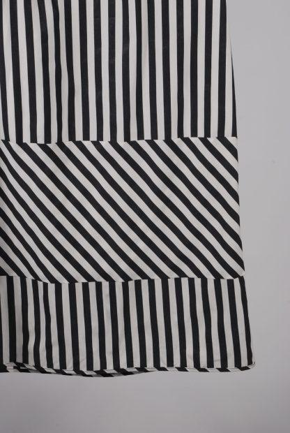 Farhi By Nicole Farhi Grey Stripe Dress - Size 6 - Front Hem