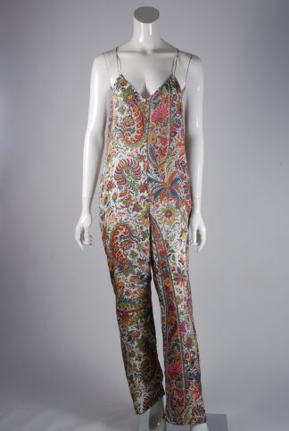 Zara Strappy Floral Jumpsuit - Size M - Front