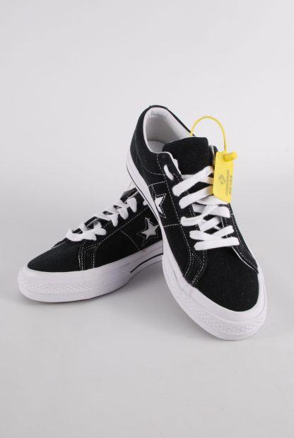 Converse All Star Black Suede Trainers - Size 7 - Front