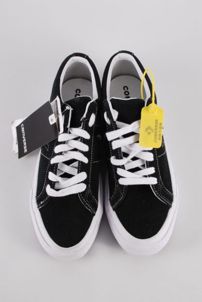 Converse All Star Black Suede Trainers - Size 7 - Front Detail