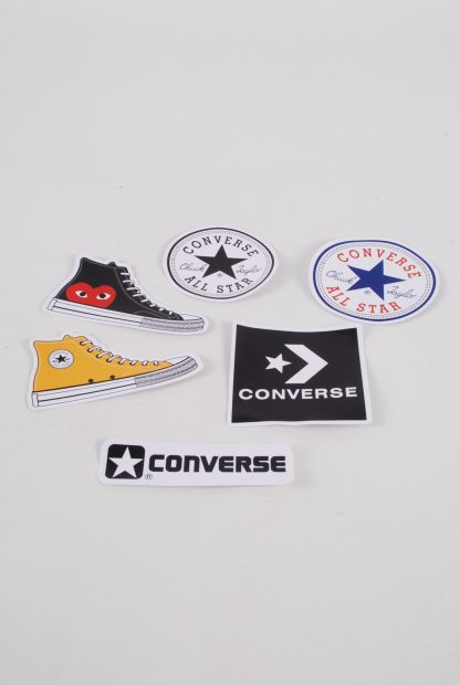 Converse All Star Black Suede Trainers - Size 7 - Stickers