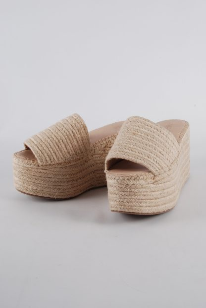 Truffle Collection Woven Platform Sandals - Size 6 - Front