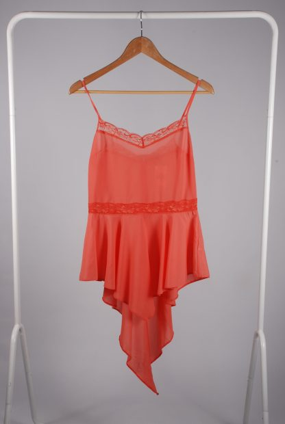 Miss Selfridge Coral Cami Top - Size 10 - Front