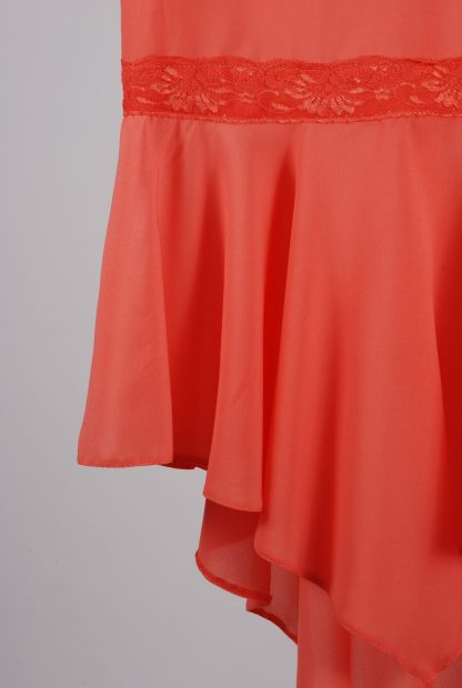 Miss Selfridge Coral Cami Top - Size 10 - Front Hem