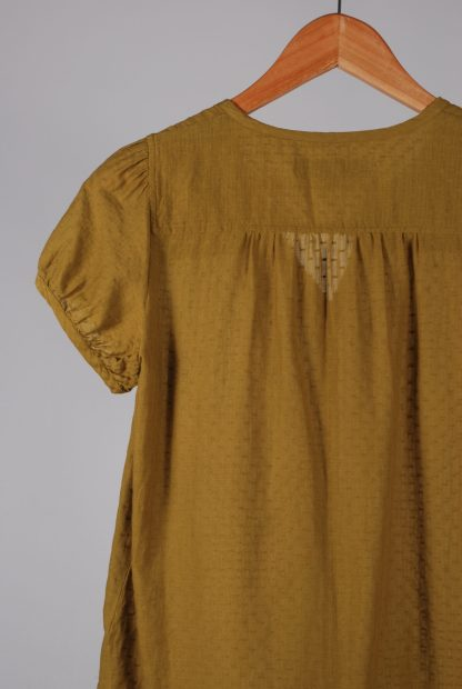 French Connection Green Textured Blouse - Size 10 - Back Detail