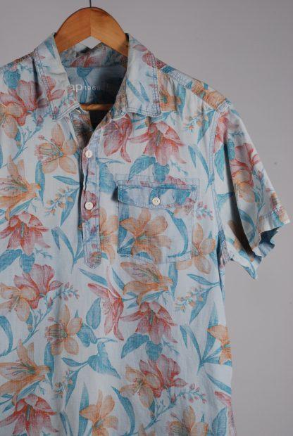Gap Hibiscus Print Shirt - Size L - Front Detail