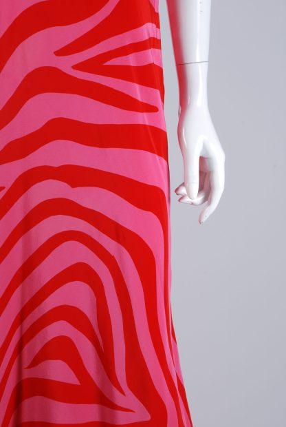 Debenhams Red & Pink Swirl Maxi Dress - Size 12 - Front Detail