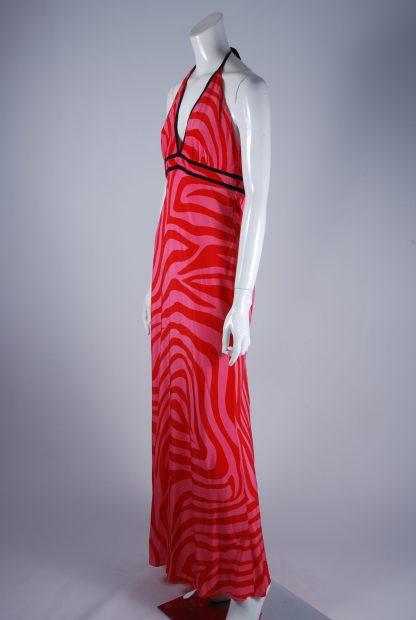 Debenhams Red & Pink Swirl Maxi Dress - Size 12 - Side