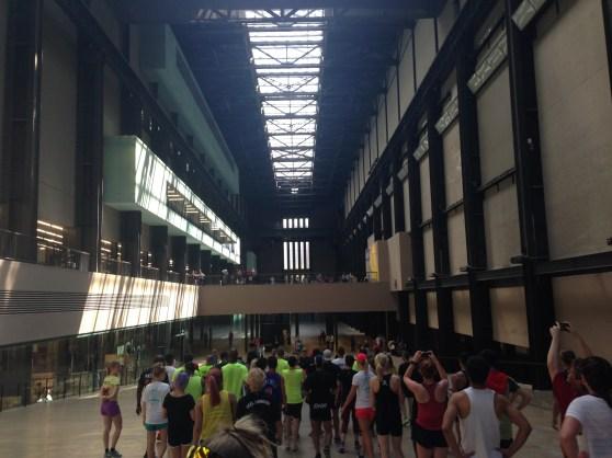 Inside the Tate Modern.