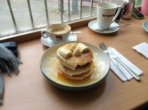 Vegan pancakes in Edinburgh.