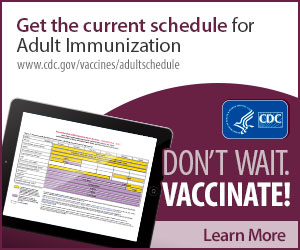 recommended vaccinations for adults 19 and over