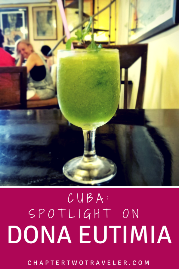 A Mojito Frappe at Doña Eutimia is a fantastic way to cool off after a day of sightseeing!