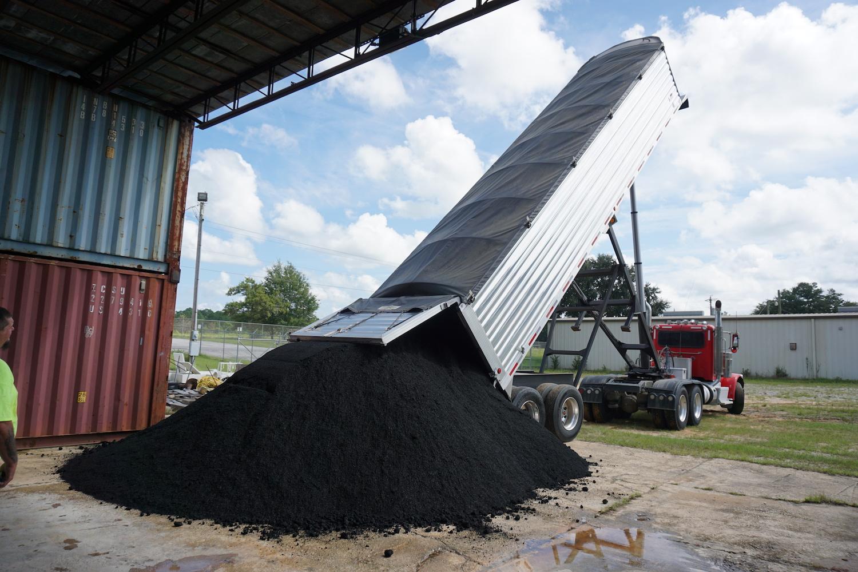 biochar prime dump truckload