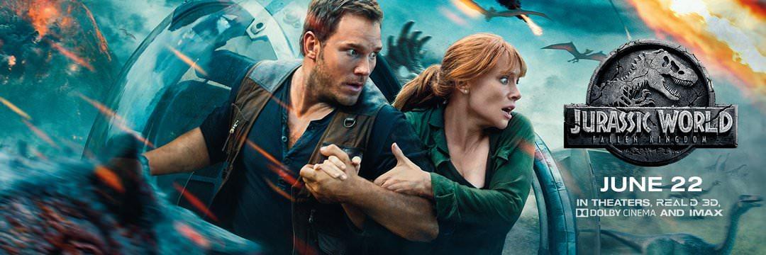 Movie, Jurassic World: Fallen Kingdom(美國) / 侏羅紀世界:殞落國度(台) / 侏罗纪世界2(中) / 侏羅紀世界:迷失國度(港), 電影海報, 美國, 橫版