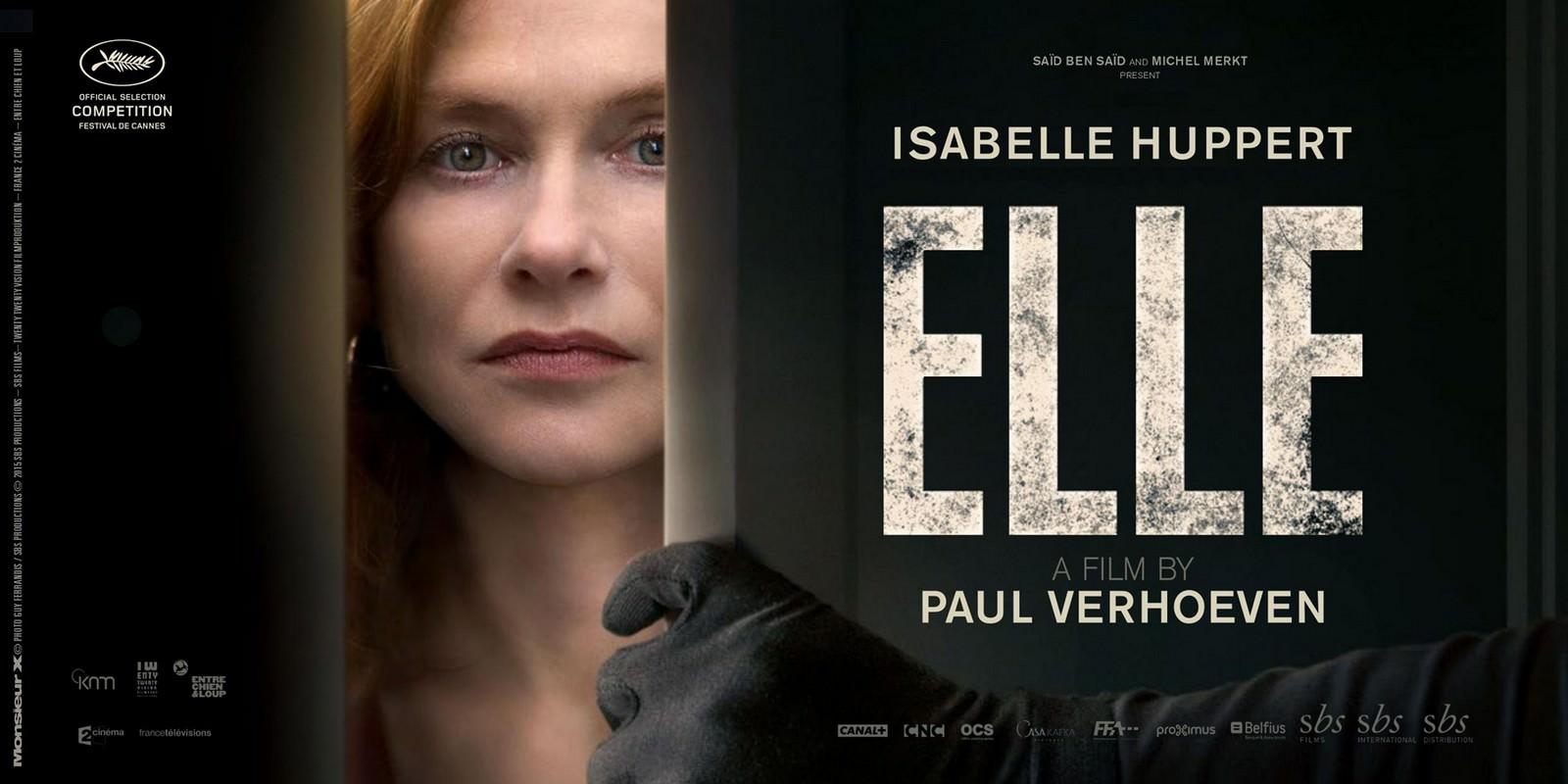 Movie, Elle(法國, 2016年) / 她的危險遊戲(台灣) / 烈女本色(香港) / 她(網路), 電影海報, 國際, 橫版
