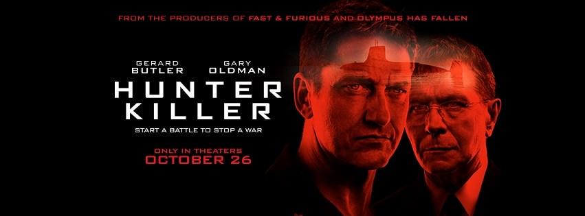Movie, Hunter Killer(美國, 2018年) / 潛艦獵殺令(台灣) / 冰海陷落(中國) / 潛艦滅殺令(香港), 電影海報, 美國, 橫版