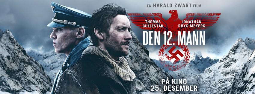 Movie, Den 12. mann(挪威, 2017年) / 不可能的逃亡(台灣) / The 12th Man(英文) / 第十二个人(口語), 電影海報, 挪威, 橫版
