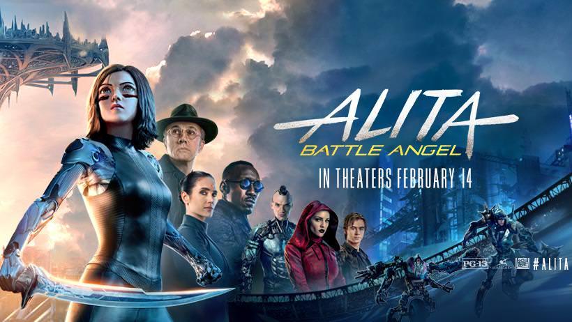 Movie, Alita: Battle Angel(美國, 2019年) / 艾莉塔:戰鬥天使(台灣) / 阿丽塔:战斗天使(中國) / 銃夢:戰鬥天使(香港), 電影海報, 美國, 橫版