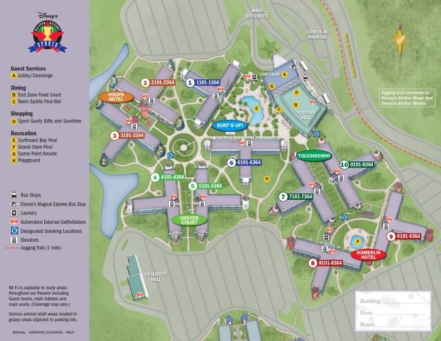 All Star Sports Resort Map Walt Disney World