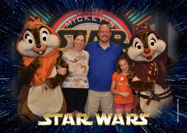 Chip n Dale Ewoks Star Wars Weekends dinner