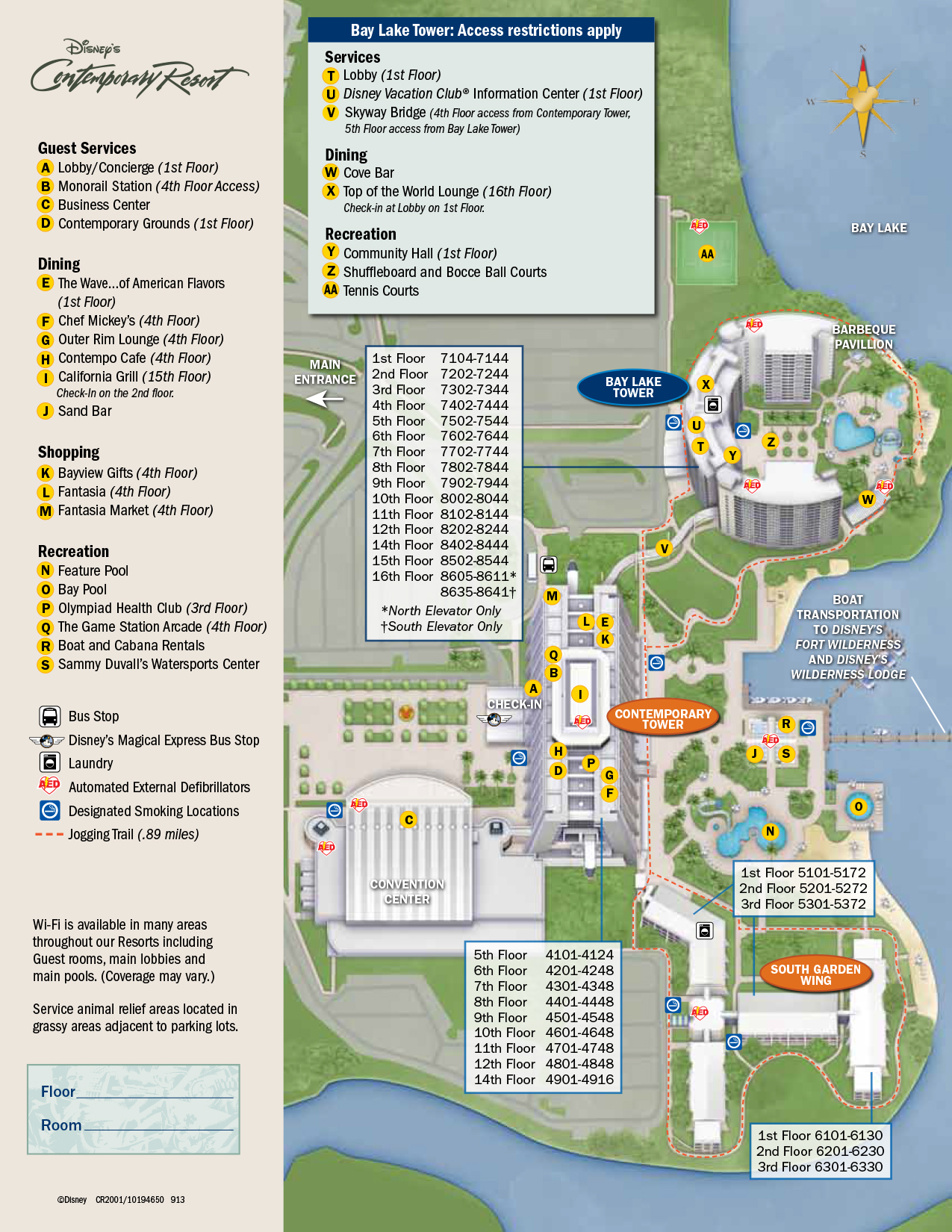 Contemporary Resort Map | KennythePirate's Unofficial Guide to ... on