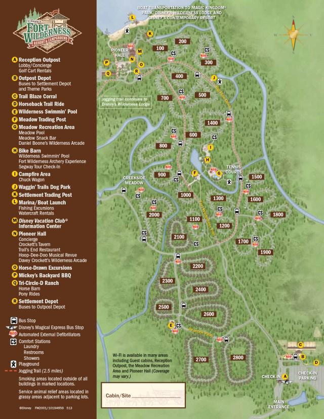 Fort Wilderness Resort Map Walt Disney World