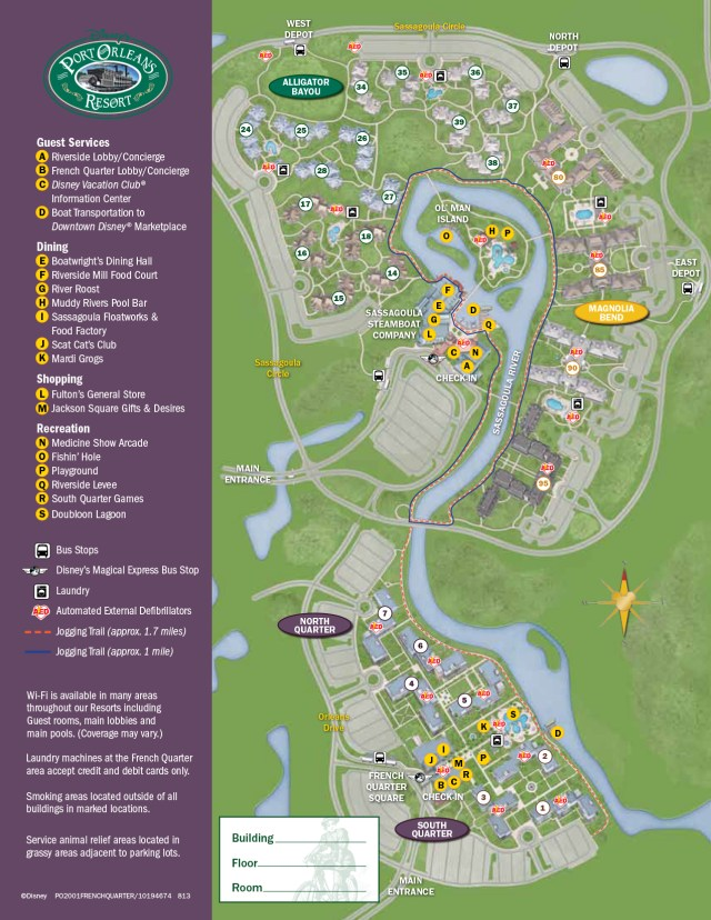 Port Orleans French Quarter Resort Map Walt Disney World