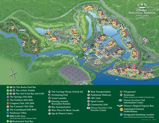 Saratoga Springs Resort Map Walt Disney World