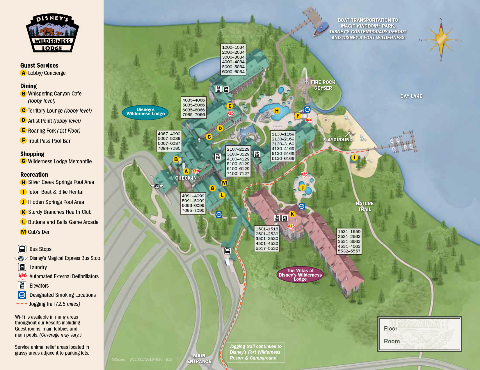 Wilderness Lodge Resort Map Walt Disney World