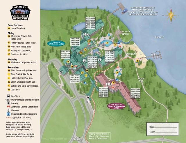 Wilderness Lodge Resort Map Walt Disney World