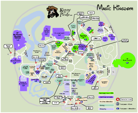 photograph about Magic Kingdom Printable Map named Magic Kingdom Map