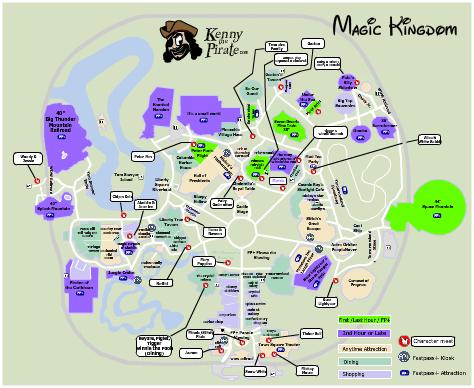 photograph about Magic Kingdom Printable Map named Magic Kingdom Map