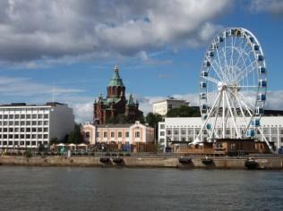 Helsinki cityline (Oespenski-kathedraal)