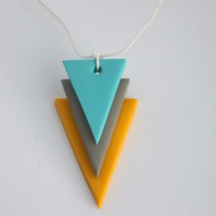 Geometric necklace © Delighted Momma