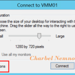 Hyper-V Enhanced Session Mode 'Show Options' Issue #HyperV