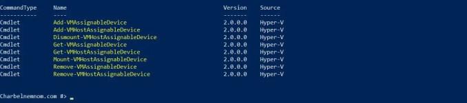 HyperV-DirectDeviceAssigment
