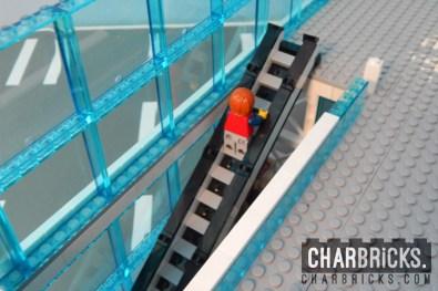 Custom MOC Lego Escalator Airport by CharBricks charlotteslego