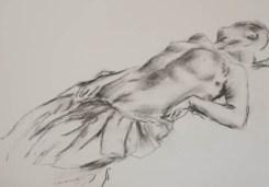 Copy of Recumbent seminude woman by Degas