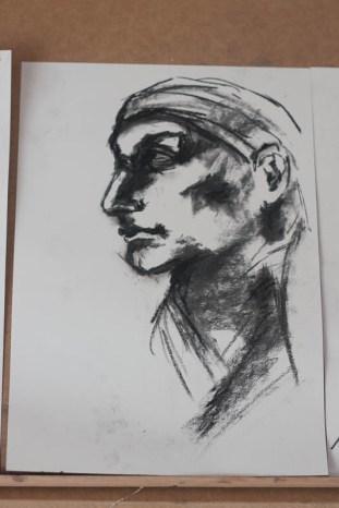 Copy of Michelangelo Buonarroti, Head in profile