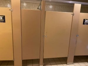 Bathroom Stalls - Half are locked to ensure Social Distancing
