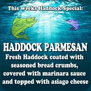 Haddock Parmesan - Broiled Haddock Special