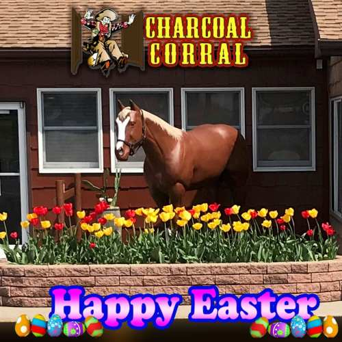 Happy Easter from the Crew at the Charcoal Corral and Silver Lake Twin Drive-In