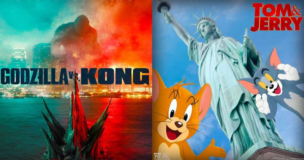 Godzilla vs. Kong followed by Tom & Jerry