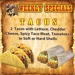 Tacos - 2 Soft or 2 Hard shell