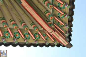 Detalle de los techos La taquilla de Changdeokgung