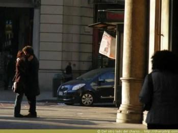 Pareja apasionada en Turin
