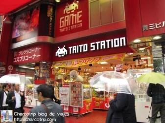La entrada a la Taito Station